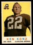 1959 Topps #54   Ken Konz Front Thumbnail