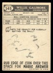 1959 Topps #145  Willie Galimore  Back Thumbnail