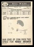 1959 Topps #110   Bill Wade Back Thumbnail