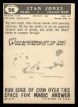 1959 Topps #96   Stan Jones Back Thumbnail