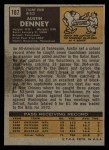 1971 Topps #187   Austin Denney Back Thumbnail