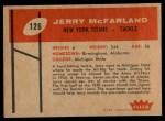 1960 Fleer #126   Jerry McFarland Back Thumbnail