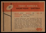 1960 Fleer #27   Tony Teresa Back Thumbnail