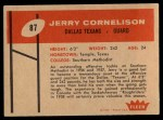 1960 Fleer #87   Jerry Cornelison Back Thumbnail