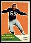 1960 Fleer #59   Sherrill Headrick Front Thumbnail