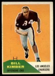 1960 Fleer #121   Bill Kimber Front Thumbnail