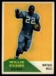 1960 Fleer #65  Willie Evans  Front Thumbnail