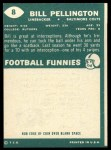 1960 Topps #8   Bill Pellington Back Thumbnail