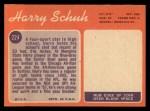 1970 Topps #224  Harry Schuh  Back Thumbnail