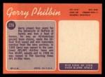 1970 Topps #226   Gerry Philbin Back Thumbnail