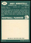 1960 Topps #81   Andy Robustelli Back Thumbnail