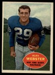 1960 Topps #75   Alex Webster Front Thumbnail