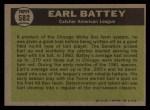 1961 Topps #582  All-Star  -  Earl Battey Back Thumbnail