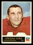 1965 Philadelphia #186  Angelo Coia     Front Thumbnail
