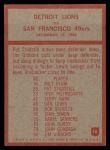 1965 Philadelphia #70  Detroit Lions  -  Harry Gilmer Back Thumbnail