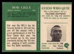 1966 Philadelphia #60  Bob Lilly  Back Thumbnail