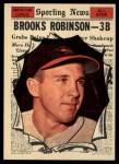 1961 Topps #572  All-Star  -  Brooks Robinson Front Thumbnail