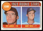 1969 Topps #404  Cubs Rookies  -  Vic LaRose / Gary Ross Front Thumbnail