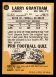 1967 Topps #93  Larry Grantham  Back Thumbnail