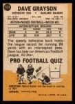 1967 Topps #111  Dave Grayson  Back Thumbnail