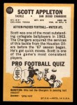 1967 Topps #118  Scott Appleton  Back Thumbnail