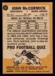 1967 Topps #31  John McCormick  Back Thumbnail