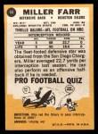 1967 Topps #44   Miller Farr Back Thumbnail