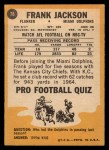 1967 Topps #78  Frank Jackson  Back Thumbnail