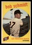 1959 Topps #109   Bob Schmidt Front Thumbnail