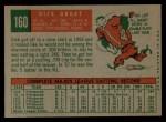 1959 Topps #160   Dick Groat Back Thumbnail