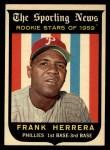 1959 Topps #129  Frank Herrera  Front Thumbnail