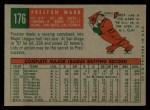 1959 Topps #176  Preston Ward  Back Thumbnail