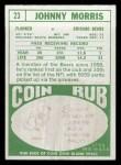 1968 Topps #23   Johnny Morris Back Thumbnail