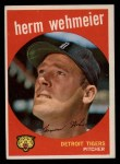 1959 Topps #421   Herm Wehmeier Front Thumbnail