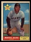 1961 Topps #327   Matty Alou Front Thumbnail