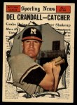1961 Topps #583  All-Star  -  Del Crandall Front Thumbnail