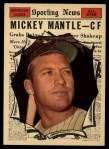 1961 Topps #578   -  Mickey Mantle All-Star Front Thumbnail