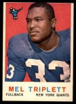 1959 Topps #160   Mel Triplett Front Thumbnail