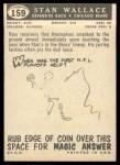 1959 Topps #159   Stan Wallace Back Thumbnail