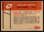 1960 Fleer #47  Willie Smith  Back Thumbnail