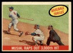 1959 Topps #470  Musial Raps Out 3000th Hit  -  Stan Musial Front Thumbnail