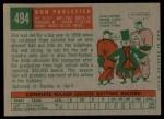 1959 Topps #494   Don Pavletich Back Thumbnail