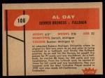 1960 Fleer #106   Al Day Back Thumbnail