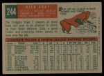 1959 Topps #244  Dick Gray  Back Thumbnail