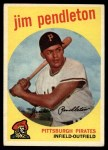 1959 Topps #174  Jim Pendleton  Front Thumbnail