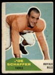 1960 Fleer #105   Joe Schaffer Front Thumbnail