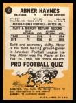 1967 Topps #35   Abner Haynes Back Thumbnail