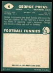 1960 Topps #6   George Preas Back Thumbnail