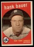 1959 Topps #240   Hank Bauer Front Thumbnail