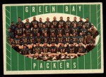 1961 Topps #47  Packers Team  Front Thumbnail